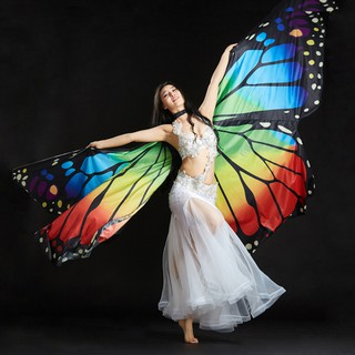 〔Almencla〕Egypt Belly Wings Dancing Costume Butterfly Wing Halloween Dance Accessories
