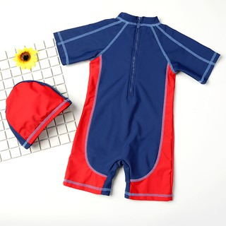 Children suit boy cuhk child conjoined quick-drying bathing baby cartoon swimsuit swimming equipment