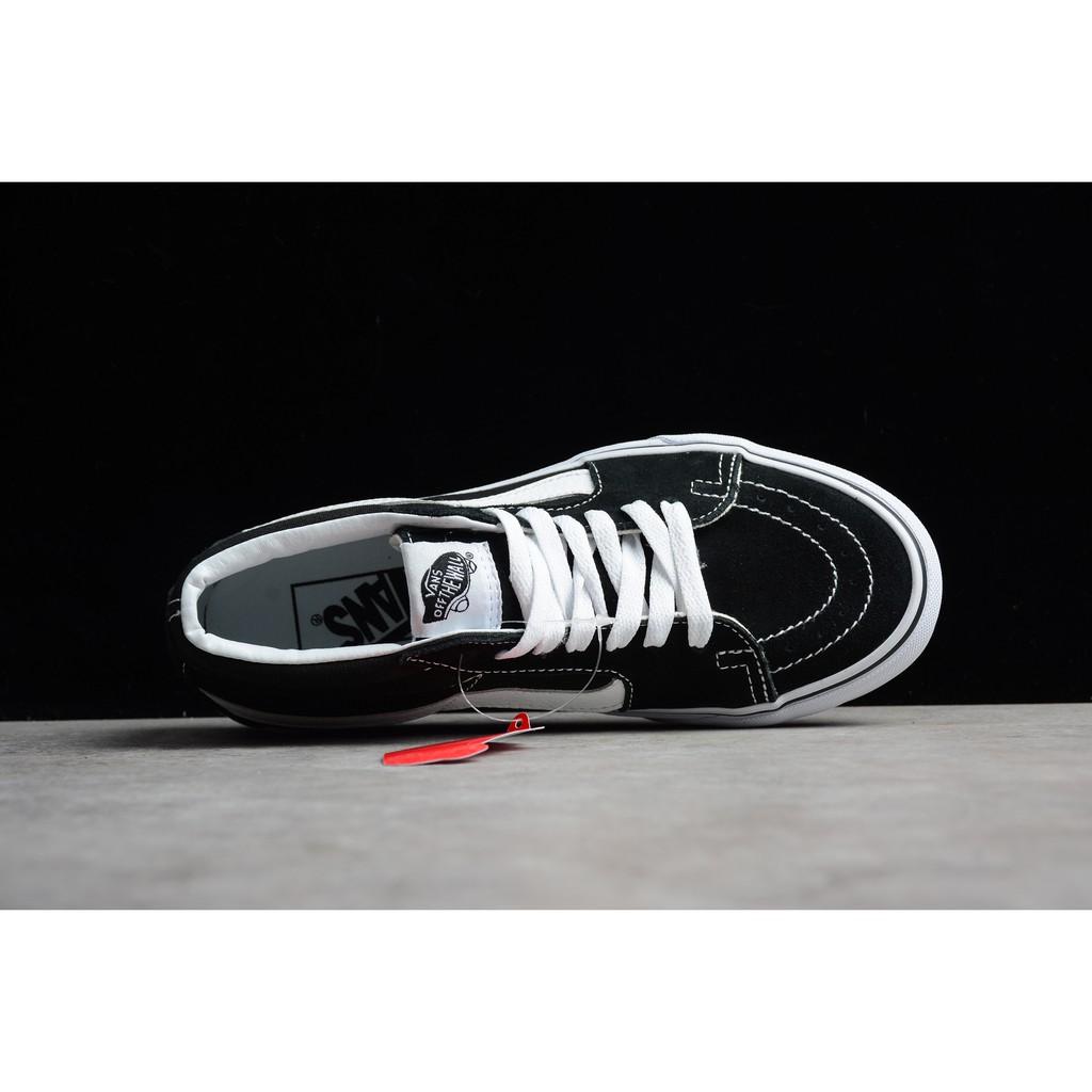 299220d6b87156 H2059GY Vance Vans Casual Shoes Vulcanized Genuine Black   White  Vnoa38g3ms5