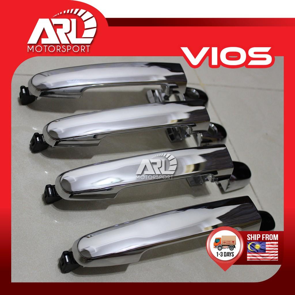 Toyota Vios (2007-2012) NCP93 Door Handle Cover Chrome / Carbon Fiber Design Car Auto Acccessories ARL Motorsport