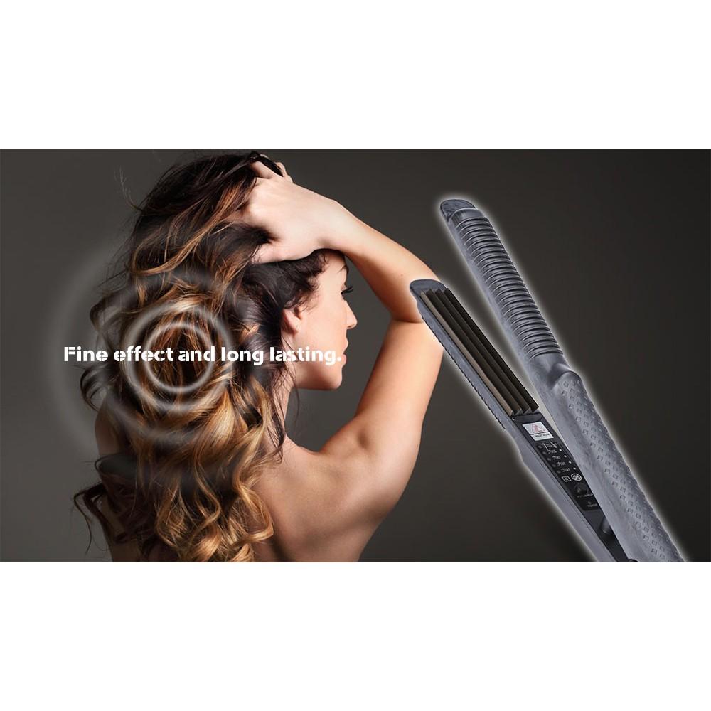 Temperature Control Titanium Electric Waves Iron Hair Curler (EU Plug)