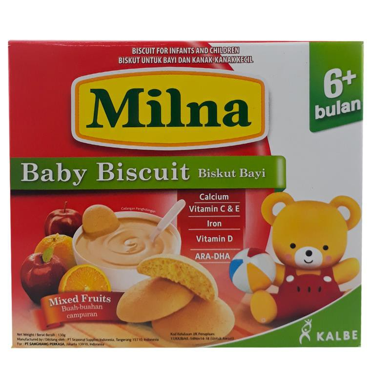 Milna Baby Biscuit Mixed Fruits (130g)