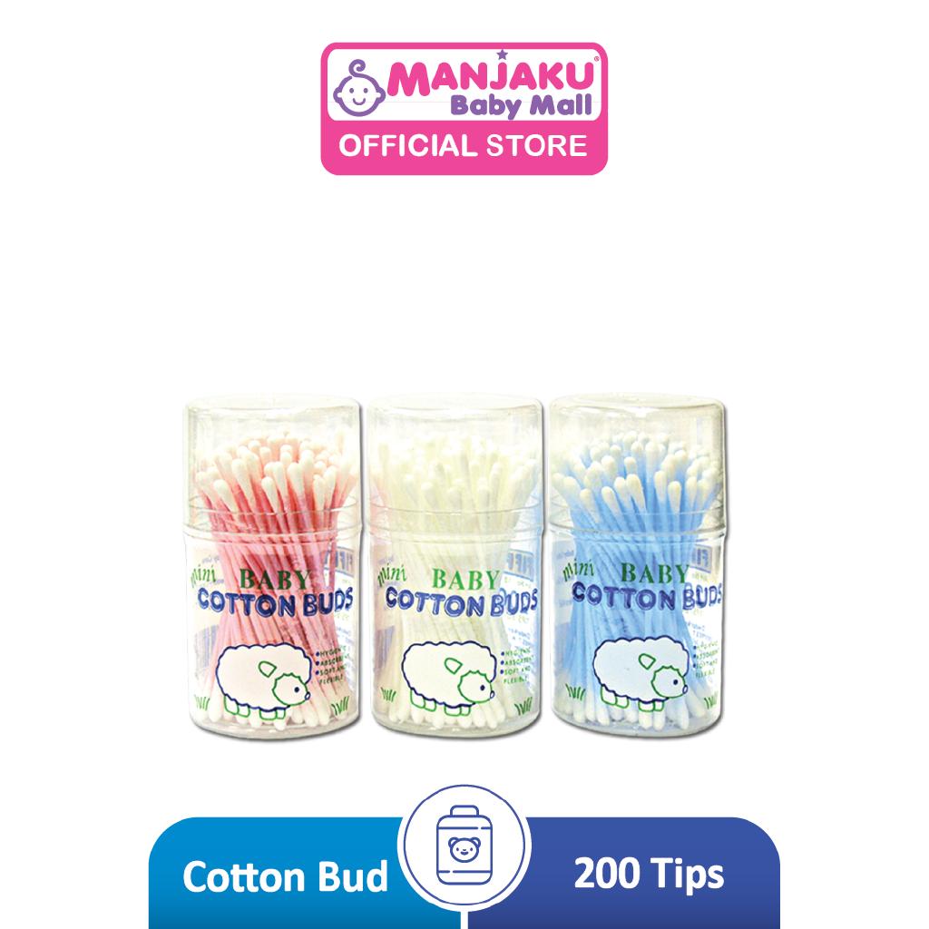 Fiffy Mini Cotton Bud Drum (200 Tips) - Assorted  Colour