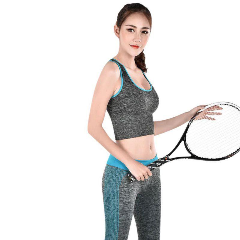 Ladies Fitness Sports Bra Fitness Running Vest Non-wire Bra Loose Elastic  Belt