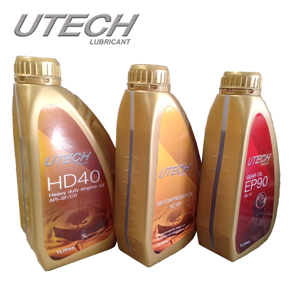 UTECH LUBRICANT HD40 1 liter HD engine oil API-SF/CD minyak engin