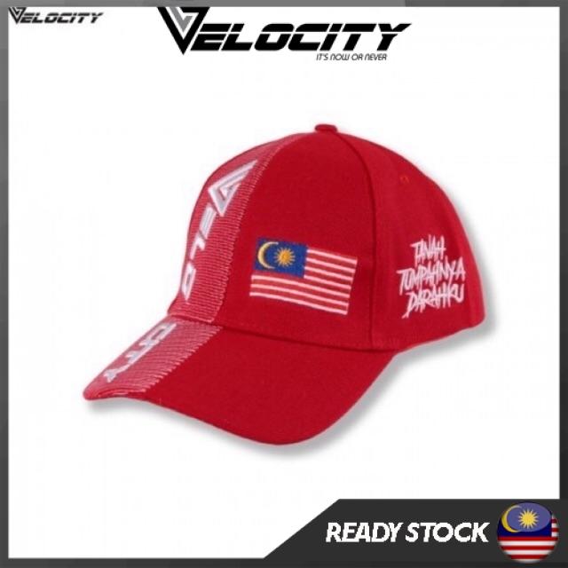 [READY STOCK] Velocity Velocool Malaysia Cap Red