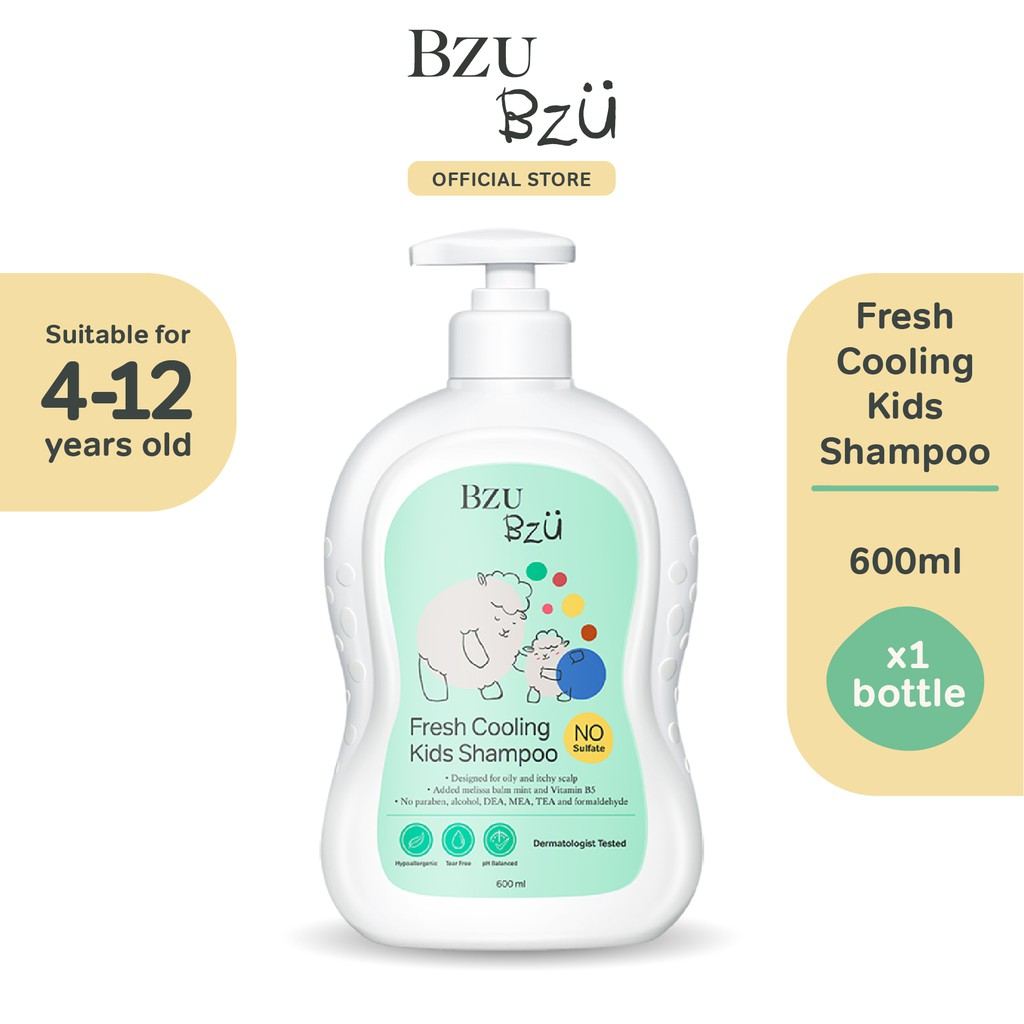 BZU BZU Fresh Cooling Kids Shampoo (600ml)