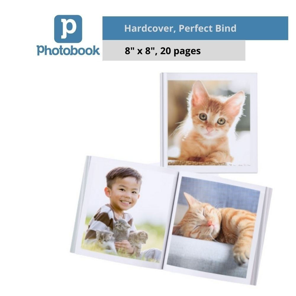 "Photobook Malaysia Personalised Hardcover Simplebook (8"" x 8"" x 20 Pages)"