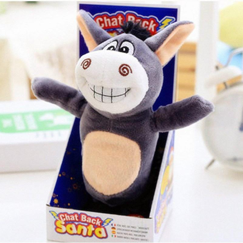 Cute Burro Stuffed Toy Singing Speak Walking Sound Record For Children Baby Kids