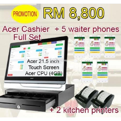 Restaurant POS System + 5 ordering phones + 2 kitchen printer
