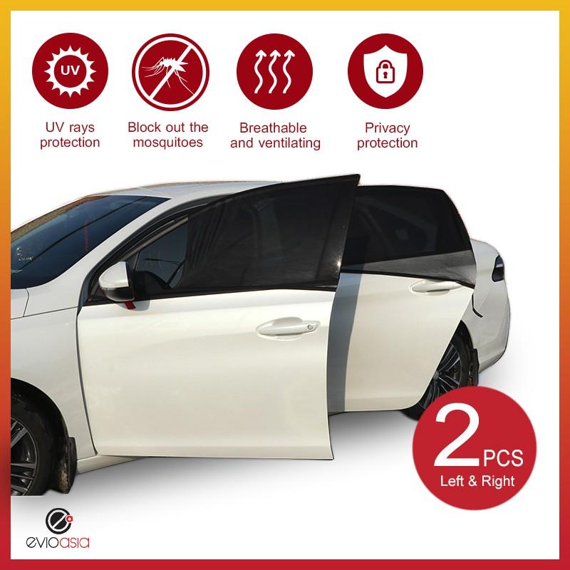 (2 PCS) Car Window Sun Shade Mesh Cover (Small)