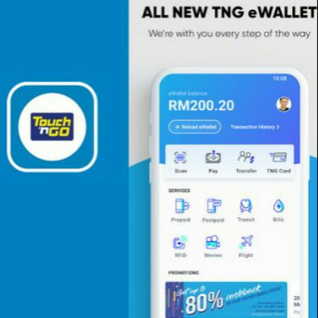 Touch N Go E Wallet Reload Topup Credit Bank Transfer Shopee Malaysia