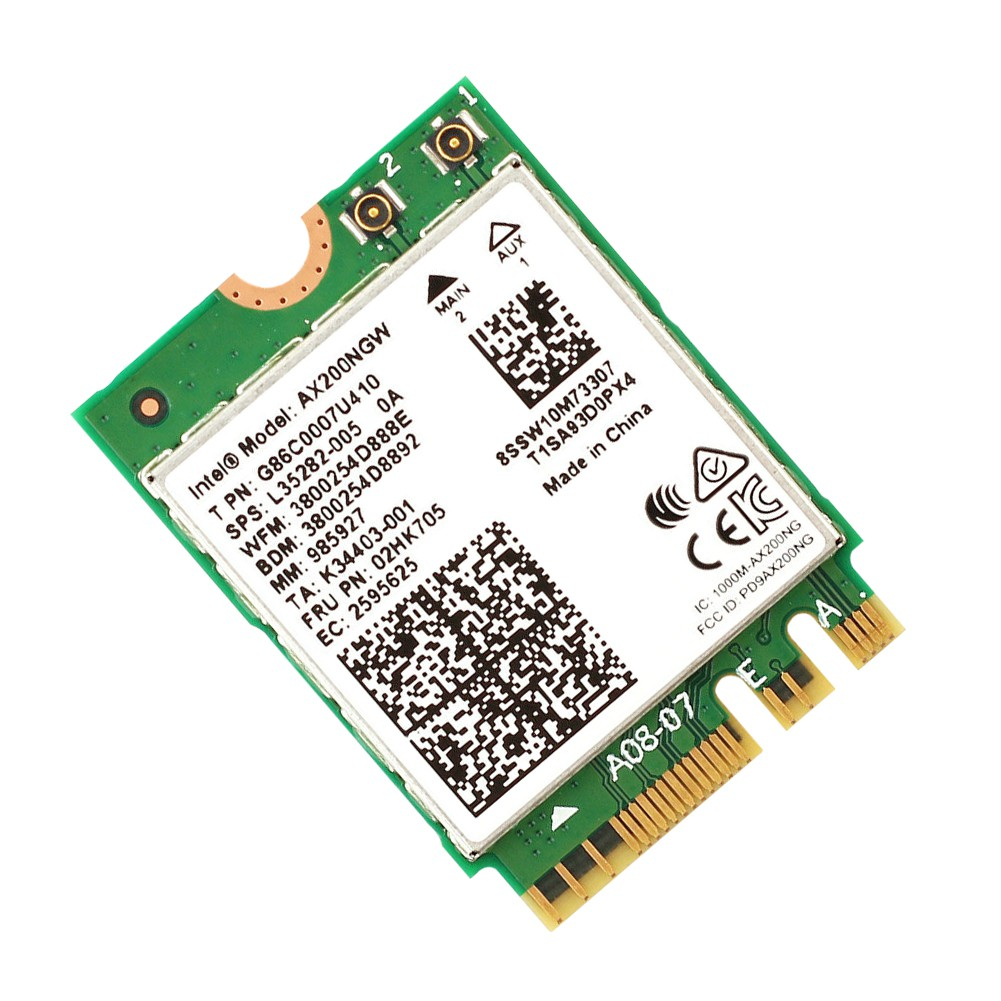 2.4Gbps Wireless Intel AX200NGW NGFF Bluetooth 5.0 2.4//5GHz Network Wifi Card