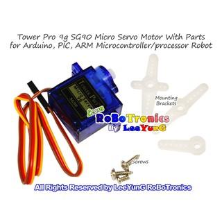 Arduino Tower Pro SG90 Continuous Rotation 360 Degree Servo Motor Set