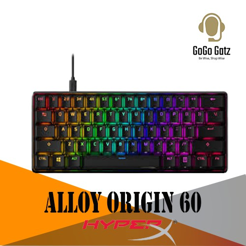 {HKBO1S-RB-US/G} HyperX Alloy Origins 60 RGB LED Mechanical Gaming Keyboard (Red Switch)
