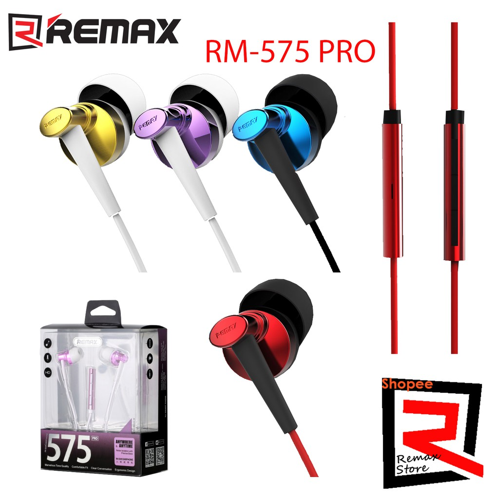 Remax Rm 501 Stereo Earphones Shopee Malaysia Earphone With Microphone Headset Handsfree