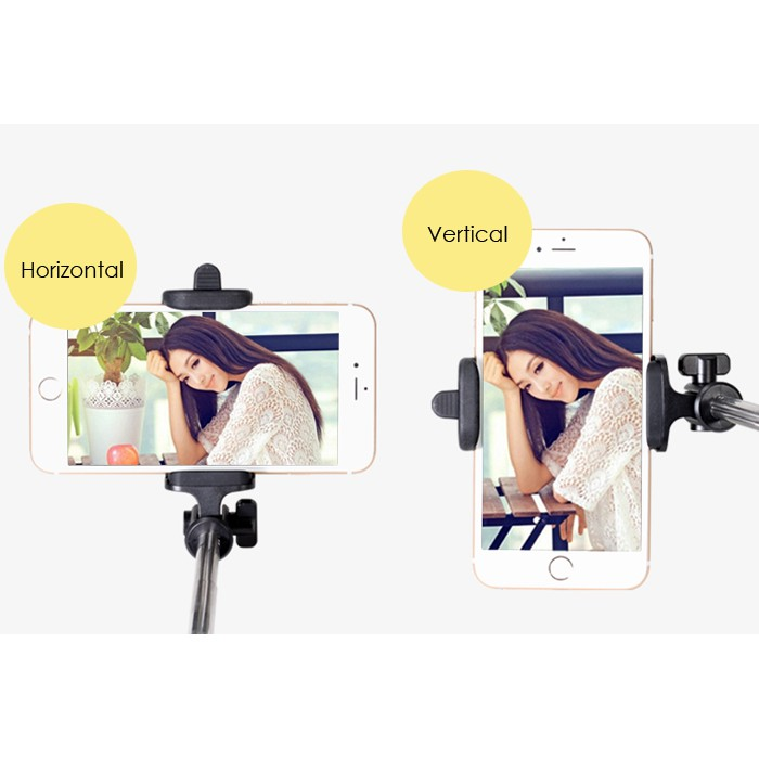 Infineo Foldable Monopod Selfie Stick with Cable