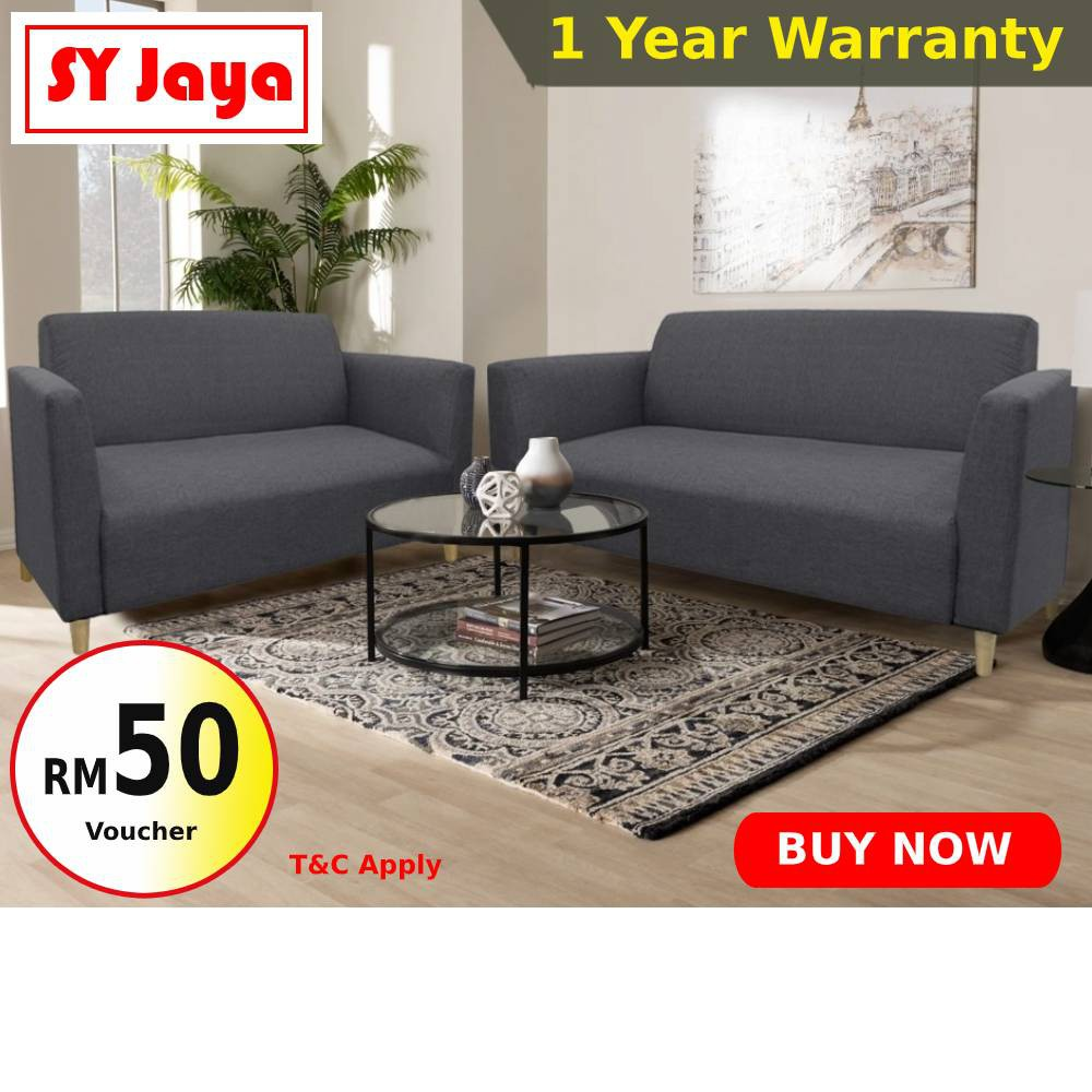 Buy 2 Seater Sofa Free 3 Seater Krona Sofa With Optional Stool Living Room Furniture Fabric Sofa Bed Murah 沙发 Shopee Malaysia