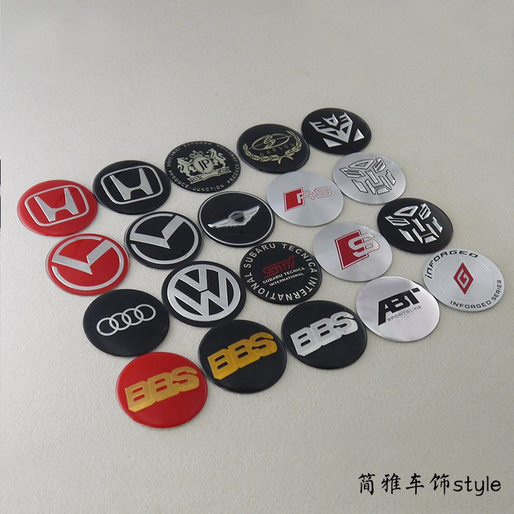 4pcs To Ship 60mm Modified Car Wheel Hub Center Cover Stickers For Vw Abt