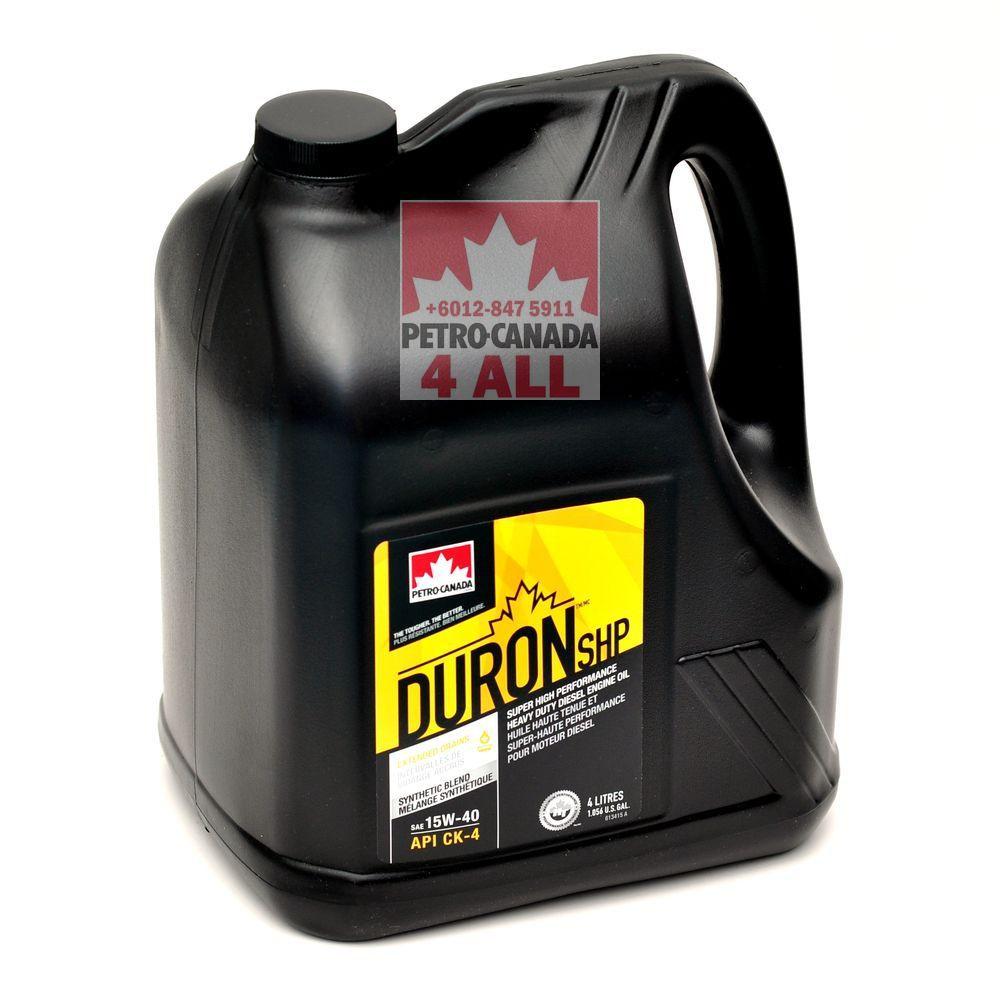 PETRO-CANADA DURON SHP 15W-40 Heavy Duty Engine Oil (4 liter per bottle)