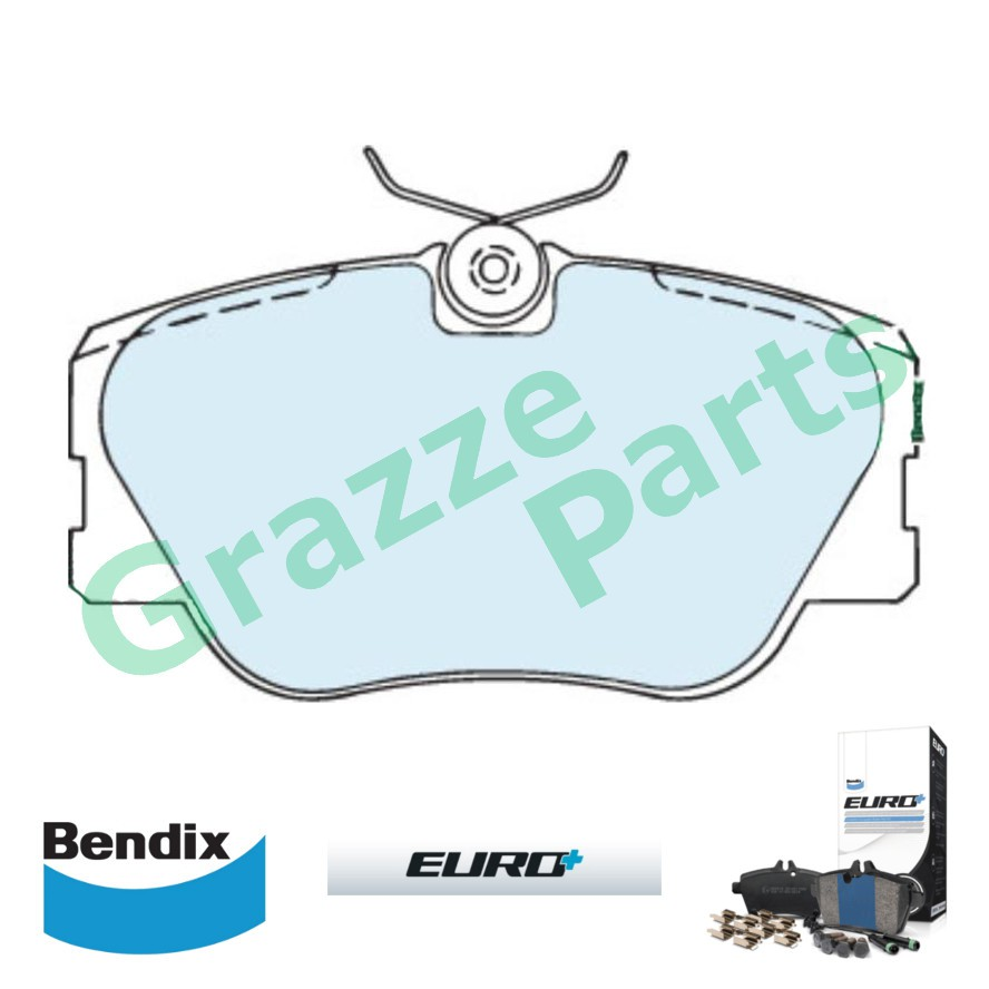 Bendix Euro Plus Disc Brake Pad Front for DB425 - Mercedes Benz W124 1986-1994