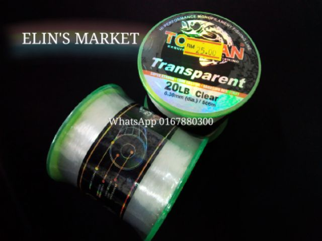 TRANSPARENT Clear Fishing Line
