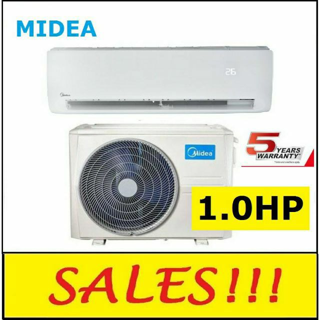 *Ready Stock* MIDEA 1.0HP Klassic Series Wall Mounted Air Conditioner MSK4-09CRN1