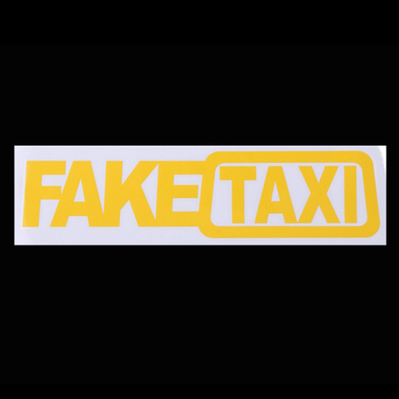 【】Universal Car Sticker FAKE TAXI Race Auto Funny Vinyl Decal 20x5cm Car  Styling