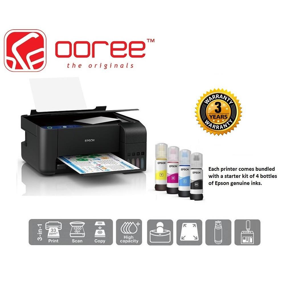 EPSON ECOTANK L3110 PRINT SCAN COPY REFILLABLE INK TANK PRINTER, REPLACE  L360