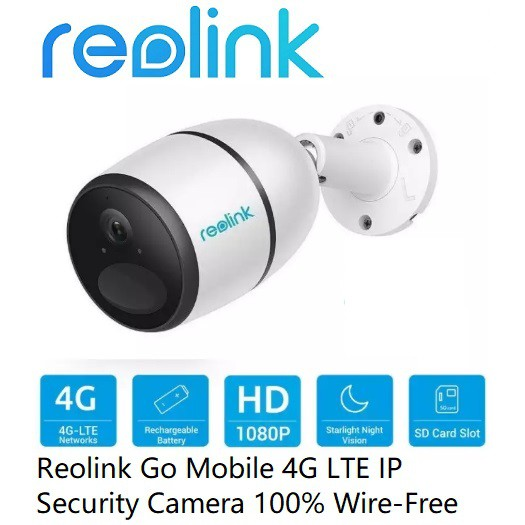 Reolink Go 4G LTE Mobile SimCard IP Security Camera 100% Wire-Free