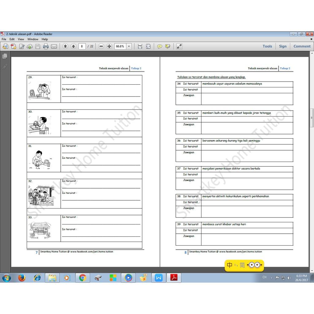 Ulasan Bahagian B Upsr Teknik Menjawab Soalan Ulasan Shopee Malaysia