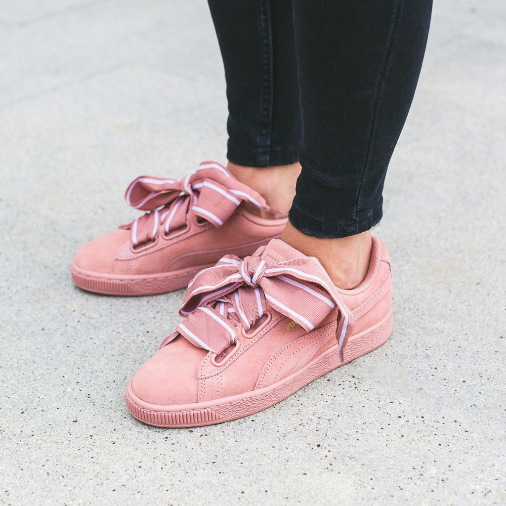 half off 7a77b 92d8a authentic Puma Suede Heart Satin II Rose Pink