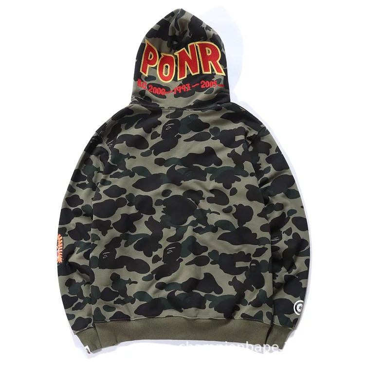 buying new new appearance best prices 2019 Japan Streetwear Unisex BAPE Camo Multicolor Shark Pull-Over Hoodie NEW
