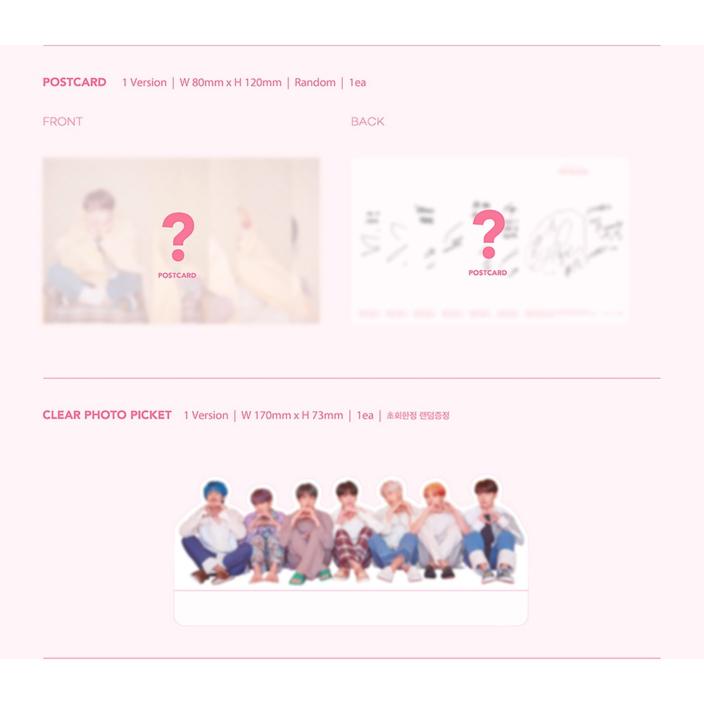 BTS Map of The Soul Persona Album PreOrder Version 1 CD+Poster+Photobook+Mini Book+Photocard+Postcard+Photo Film+Gift Extra Double-Sided BTS Photocards Set