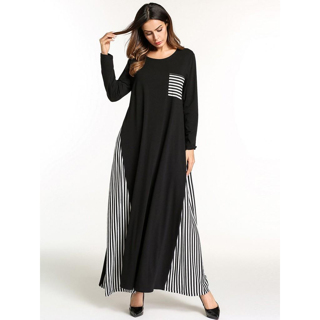 Stripe Dress Muslimah Blouse Online Shopping Sales And Promotions Maxi Zebry Busana Muslim Fashion Sept 2018 Shopee Malaysia