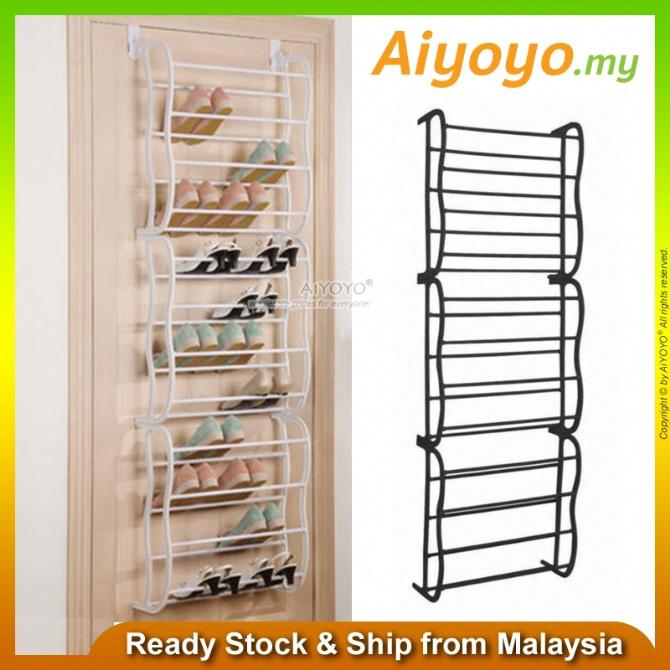 Over The Door Shoe Rack Door Rear Shoe Rack Door Hanging Shoe Rack Rak Kasut Shoe Cabinet Shoe Storage Household 4 Tier