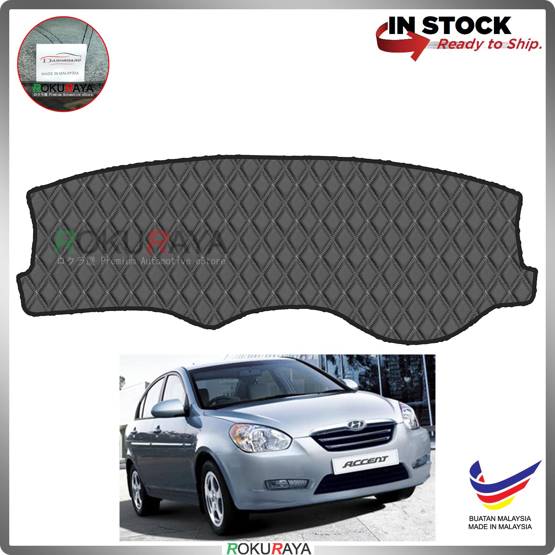 [BLACK LINE] Hyundai Accent MC New 2005-2010 RR Dashboard Cover Leather PU PVC Black Car Accessories Parts