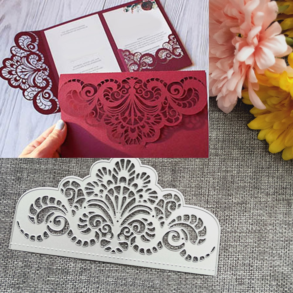 Pattern Cover Frame Metal Cutting Die For DIY Scrapbooking Album Paper Cards YED