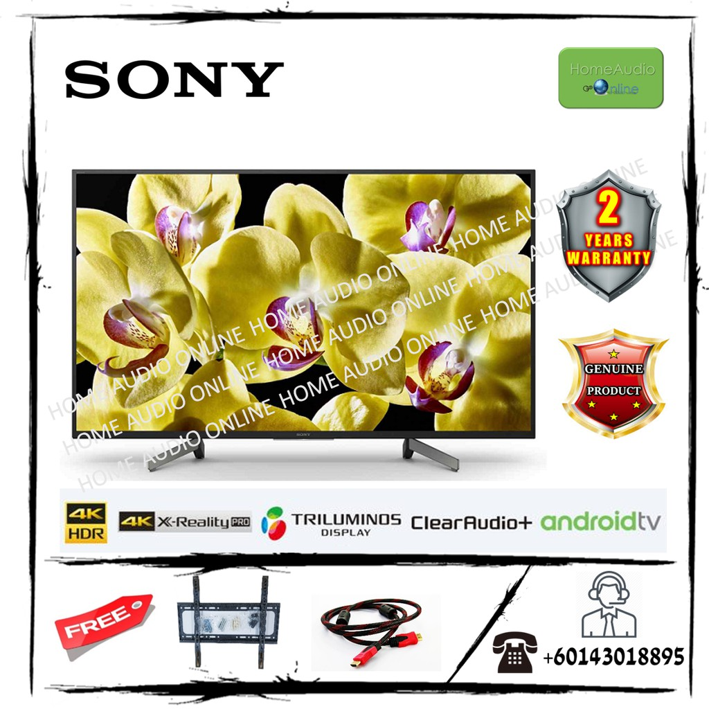Sony 55 Inch 4K Android TV - KD55X8000G *Now Free Bracket + HDMI Cable*