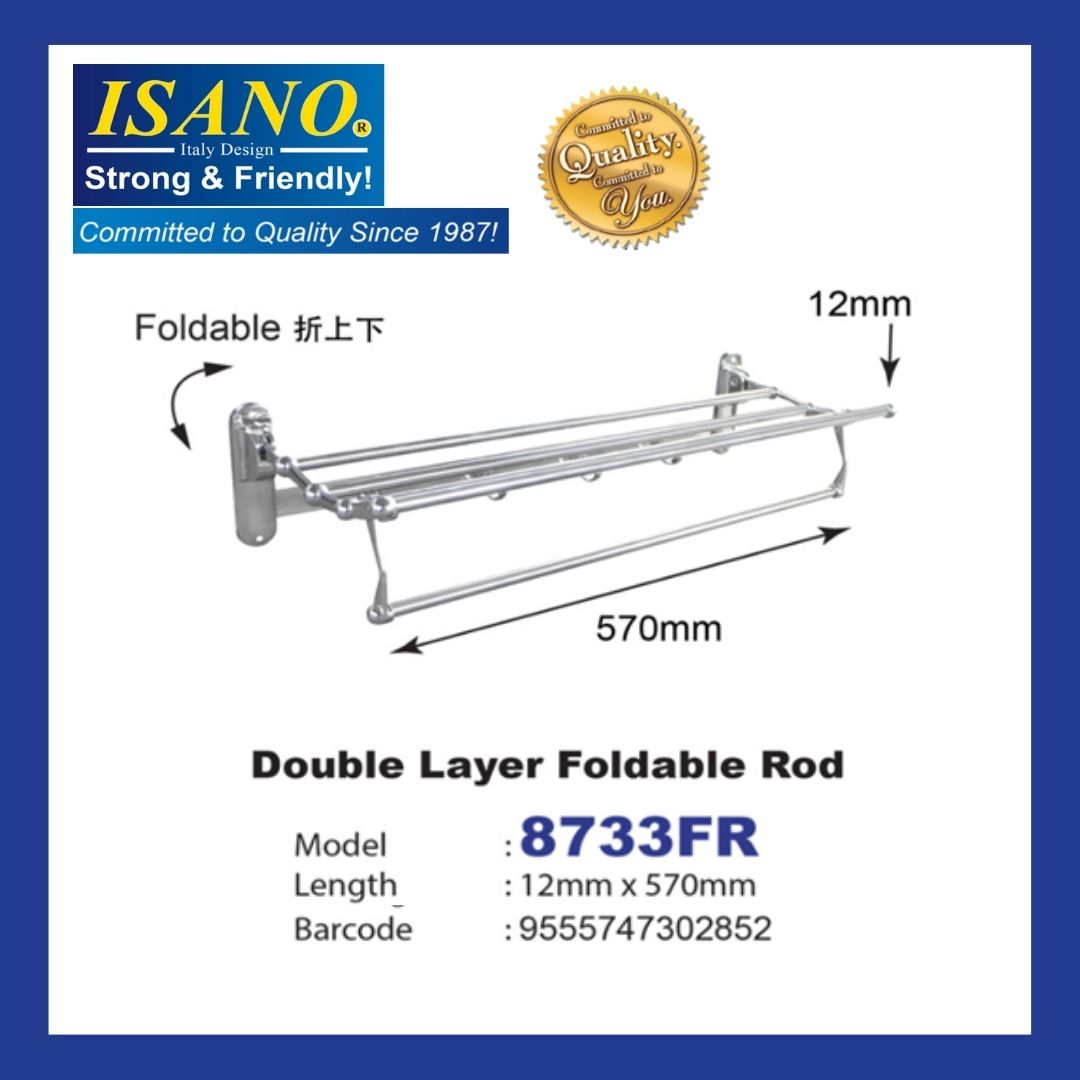 ISANO Double Layer Foldable Rod - 8733FR