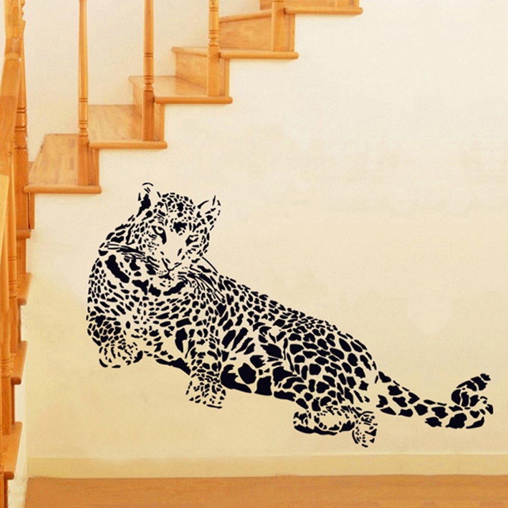 Black Cheetah Wall Decals Stickers Home