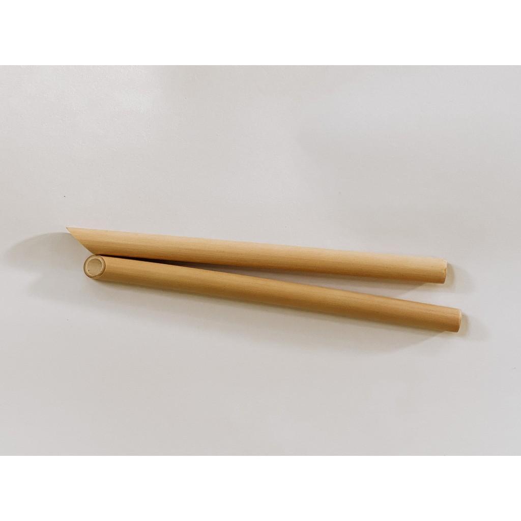 TheUsuk Reusable Bamboo Drinking Straw - Natural Boba 8″/20.5cm