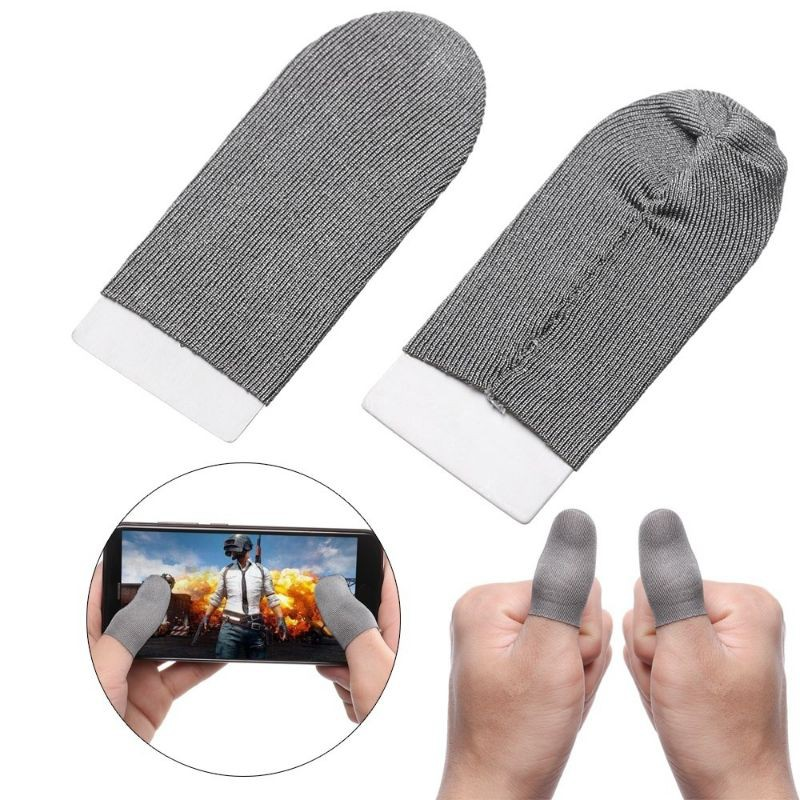 ReadyStock Malaysia 1 Pair (2pcs) Game Finger Sleeve Mobile Finger Sleeve Pubg Finger Sleeve