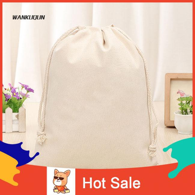 Hot Travel Stuff Plain Drawstring Bag Xmas Sack Stocking Storage Pouch