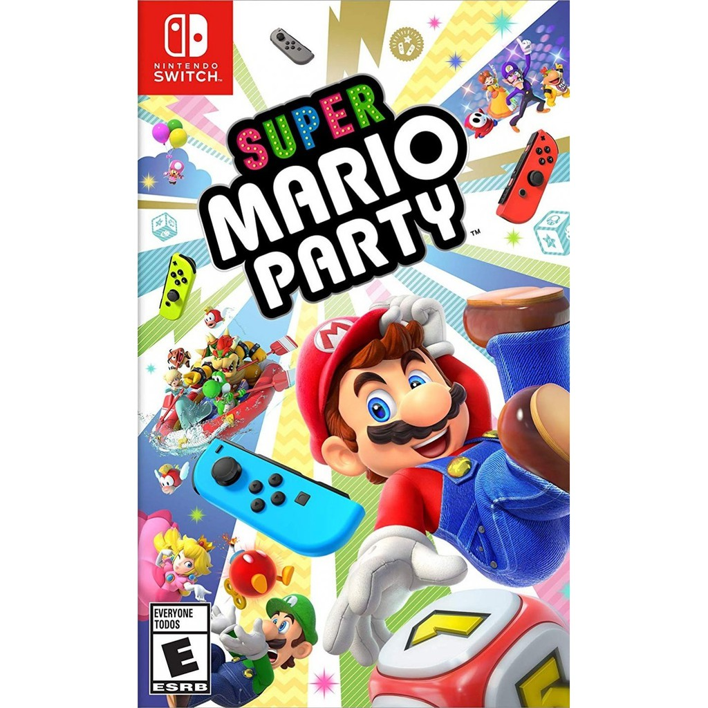 Ready Stocknintendo Switch Super Mario Party English Version Tennis Aces Us Games Shopee Malaysia