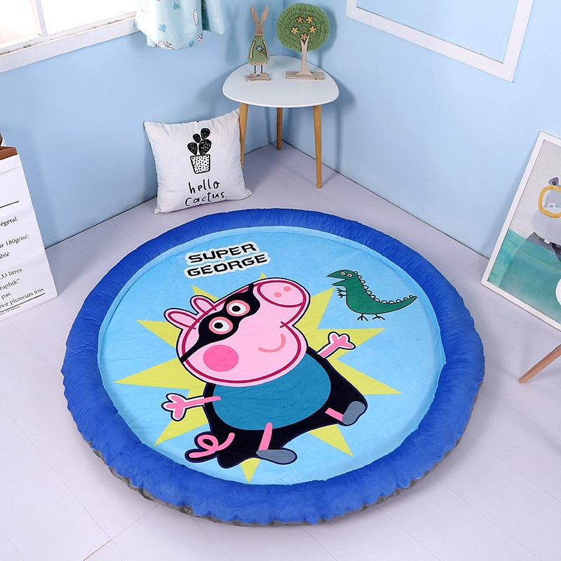 1.45M Kids Crawling Mat Baby Floor Rug Activity Round Blanket Game Play
