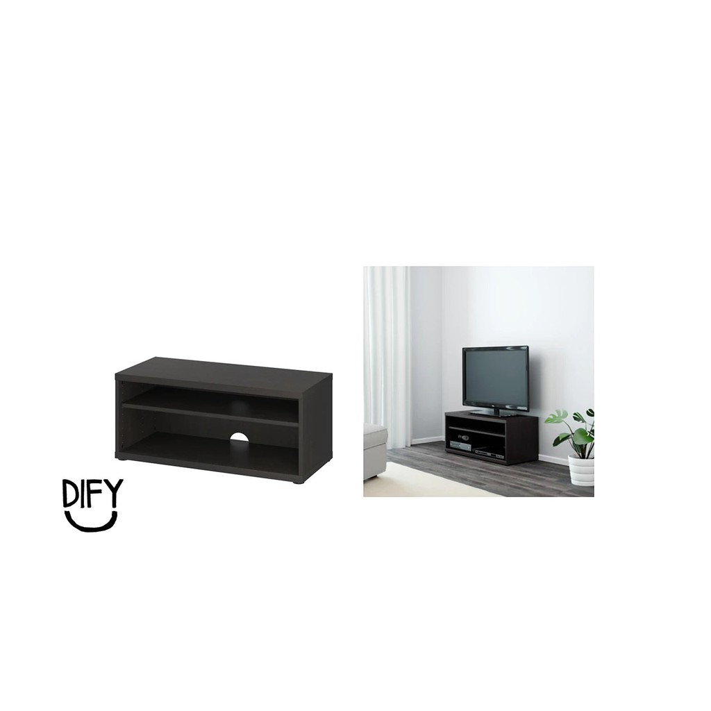 Amazing Ready Stock Ikea Mosjo Mosjo Tv Bench Black Brown Size 90X40X38 Cm Alphanode Cool Chair Designs And Ideas Alphanodeonline
