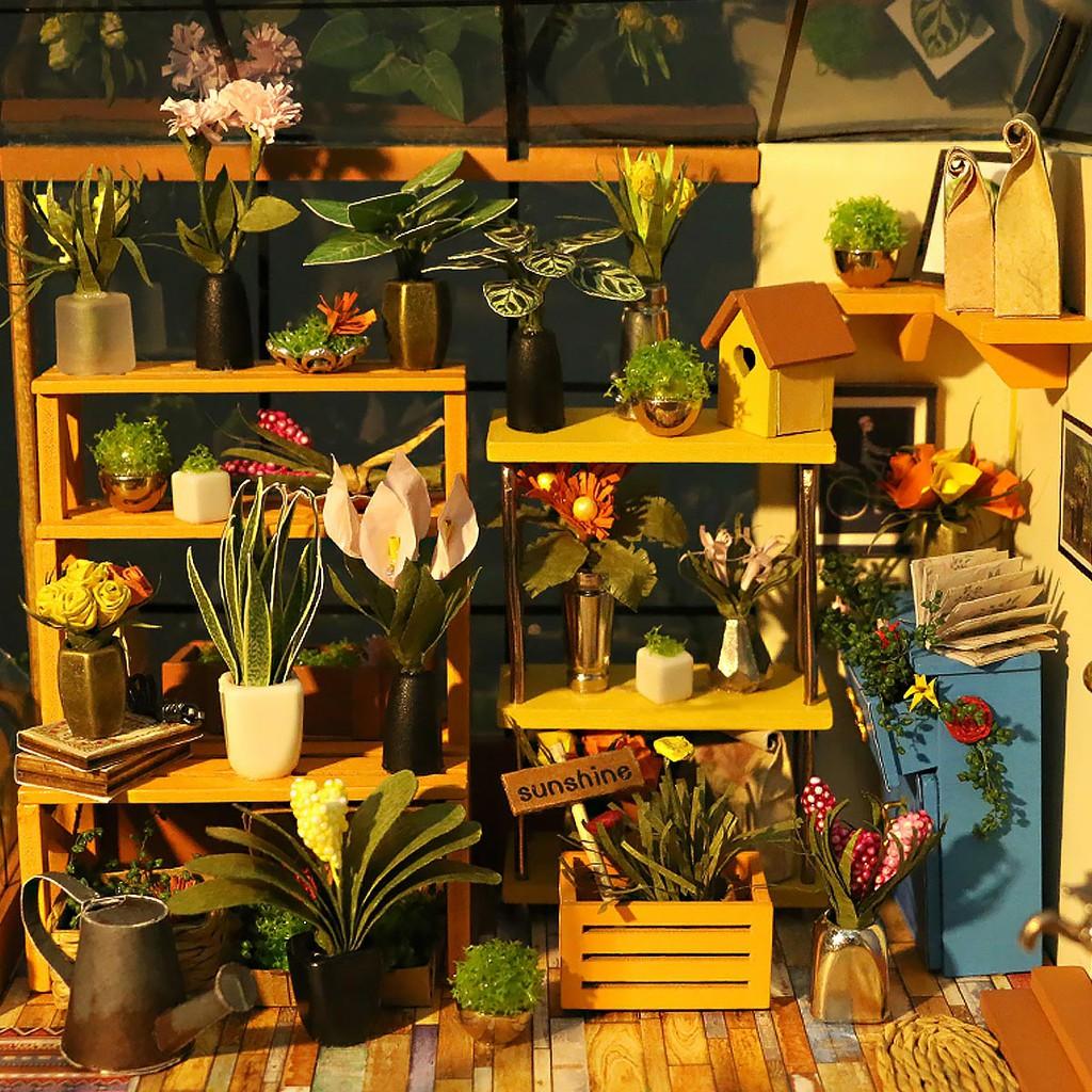 DG104 Cathy's Flower House - Robotime DIY Dollhouse 1 0 [new!]