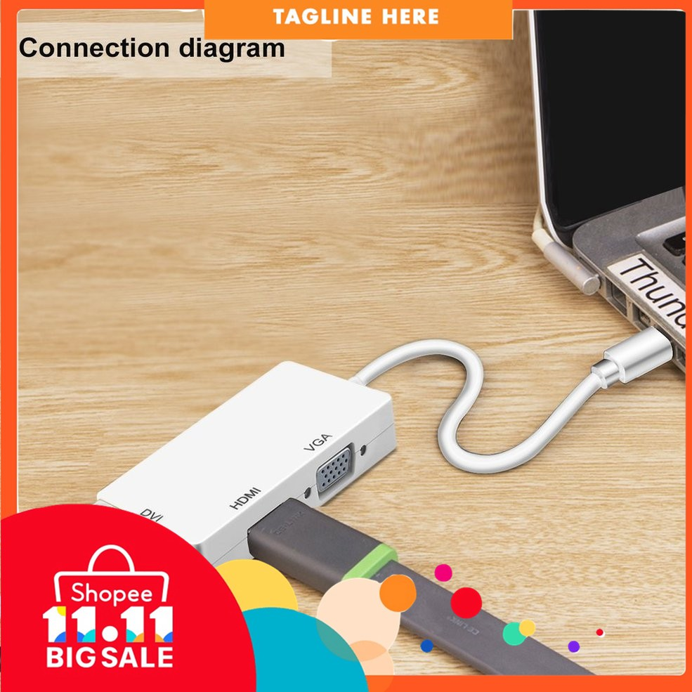 Mini Displayport To Hdmi Adapter Cable For Macbook Pro Wiring Diagram Connector Shopee Malaysia
