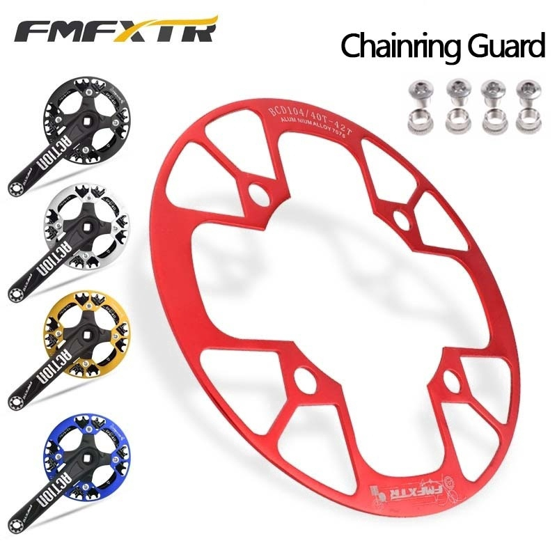MTB Mountain Bike Crank Protector Chainring Protection Cover 104BCD 32T//36T//40T